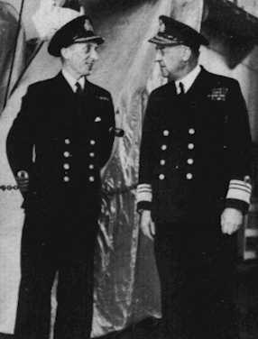 Admiral Sir Lumbey St G. Lyster, KCB, CVO, DSO (right)