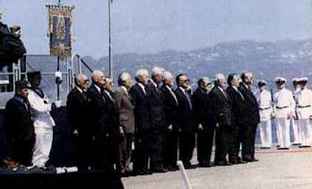 50th anniversary - Cerimony of June 9th, 1991 in La Spezia</br>