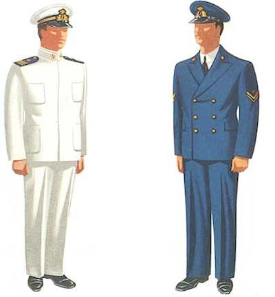 Left: Chief Petty Officer