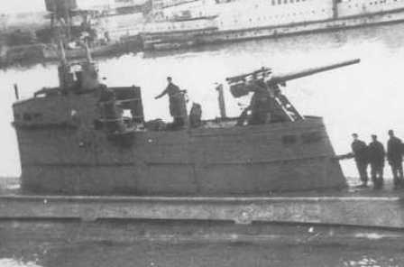 The Brin's deck gun in is awkward position on top of the cunning tower.</br>